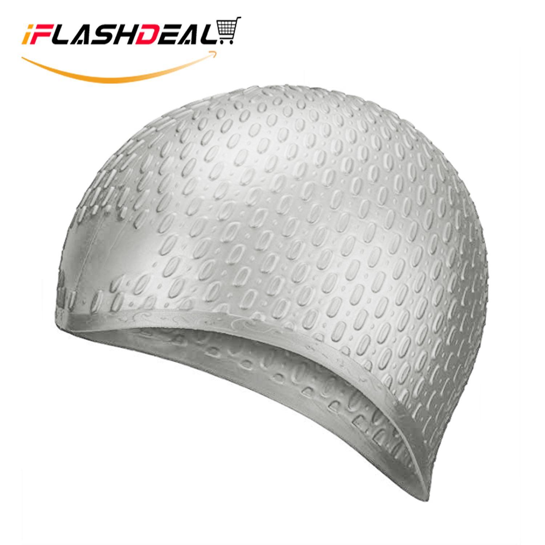 iFlashDeal Topi Renang Swimming Cap Silicone Rambut Panjang Renang Topi  Tahan Air Silikon Hat Untuk Wanita 082ad2baaf