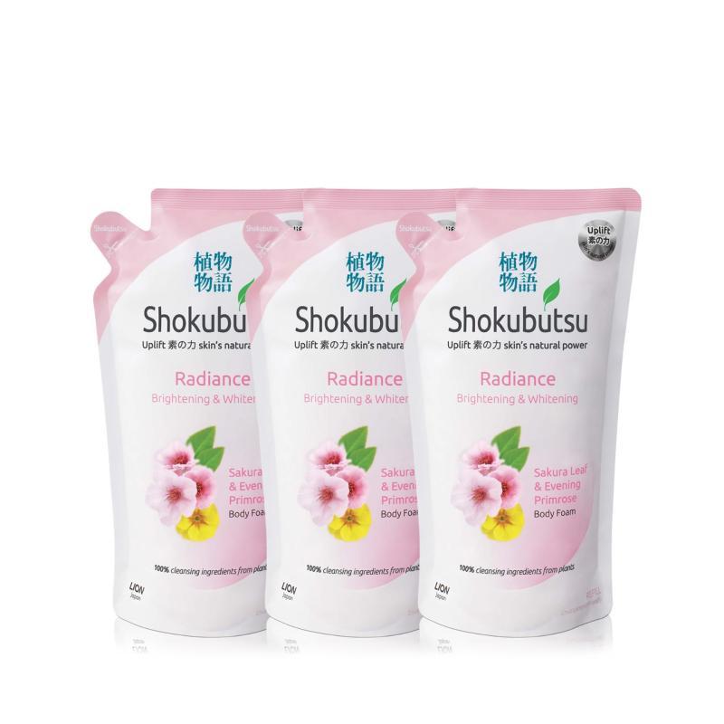 Buy Shokubutsu Radiance Body Foam - Brightening & Whitening 600ml x 3 Singapore