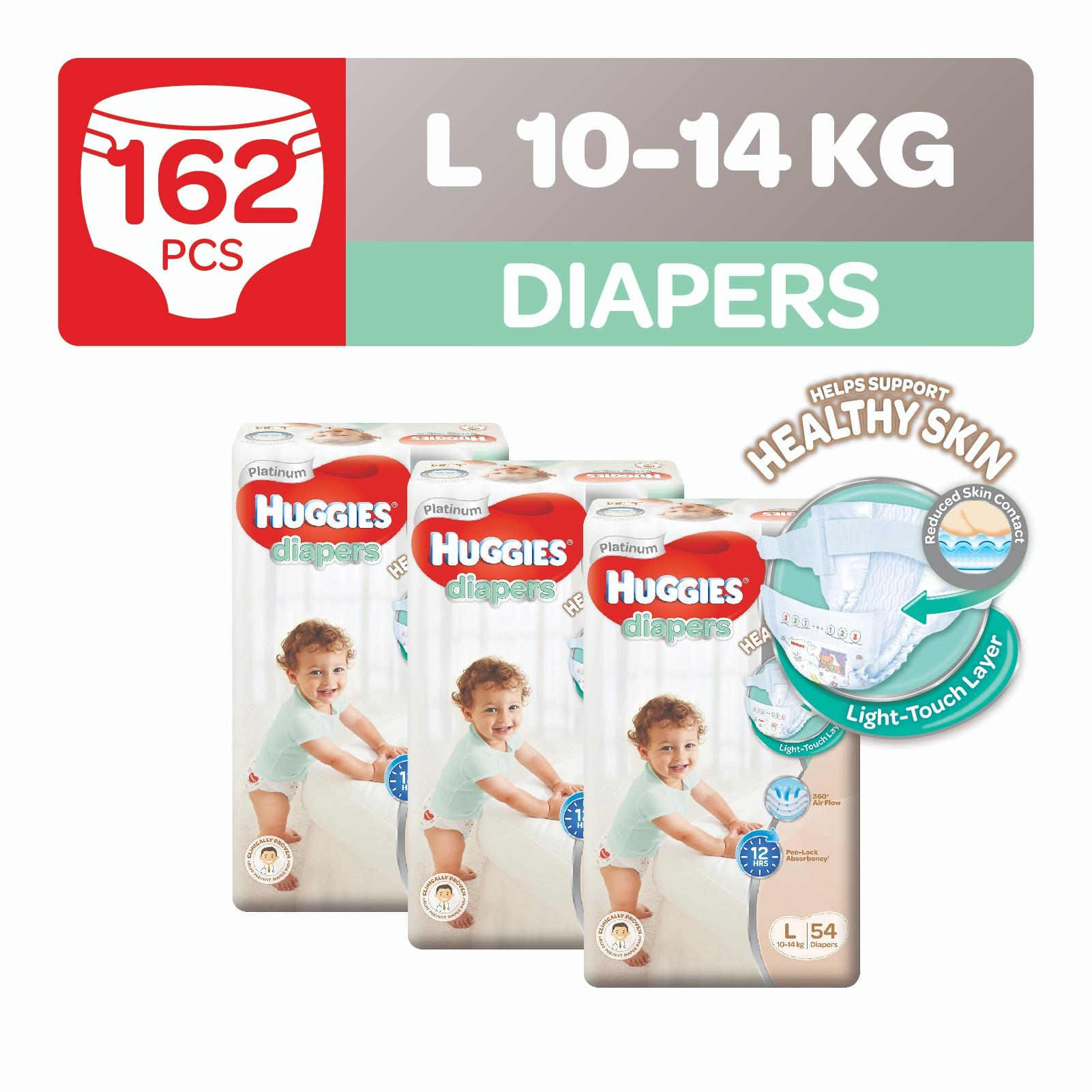 Deals For Huggies Platinum Diapers L 54Pcs X 3 Packs