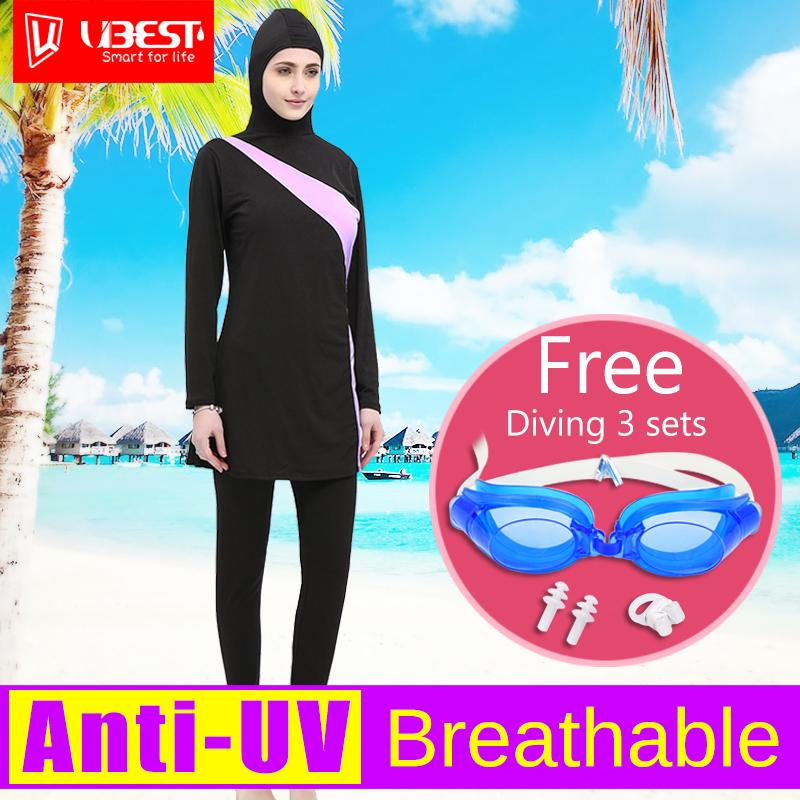 Muslim Adult Swimming Suit Muslim Swimwear Swimsuit Hijab Bathing Suit for Islamic Women