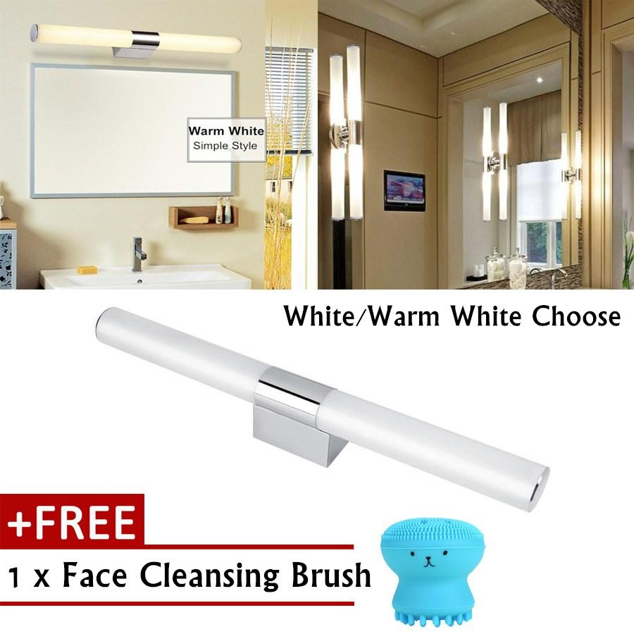 【Free Gift】14W Modern Style Home Bathroom Front Mirror LED Light Wall Mount Lamp Fixture (Warm Light) - intl