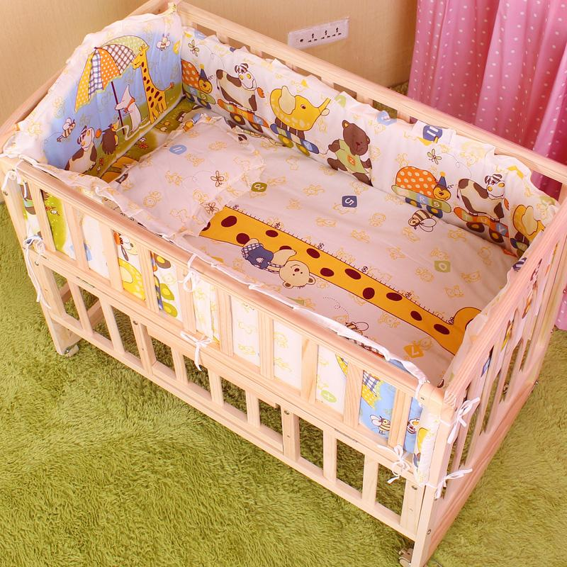 5PCS Baby Bedding Set Baby Crib Bedding Set With Bumper Baby Crib Bumper  Baby Cot Sets