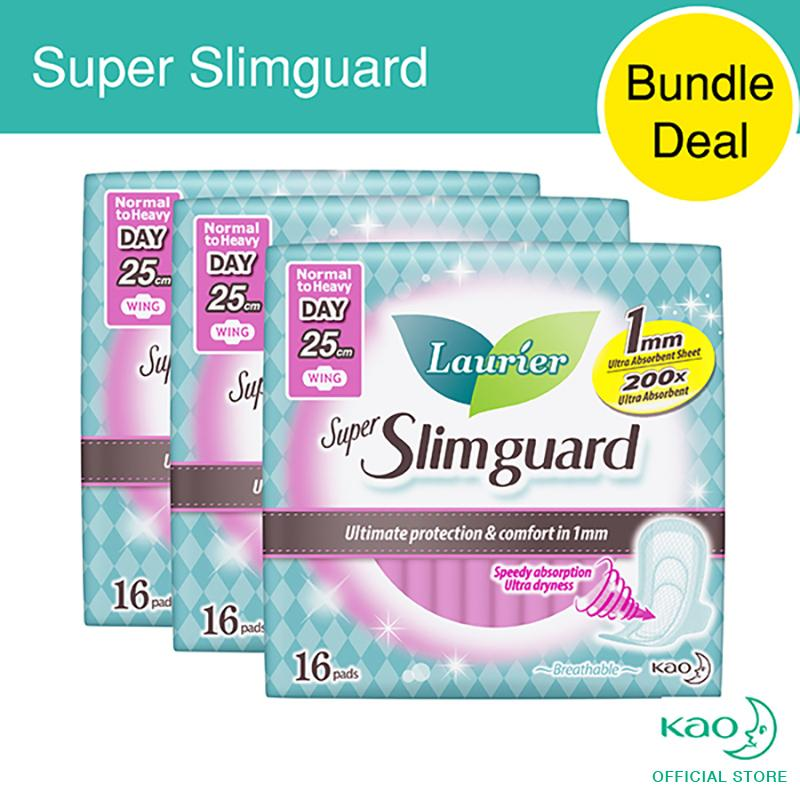 Wholesale Laurier Super Slimguard Day 25Cm 16Pcs Triple Pack