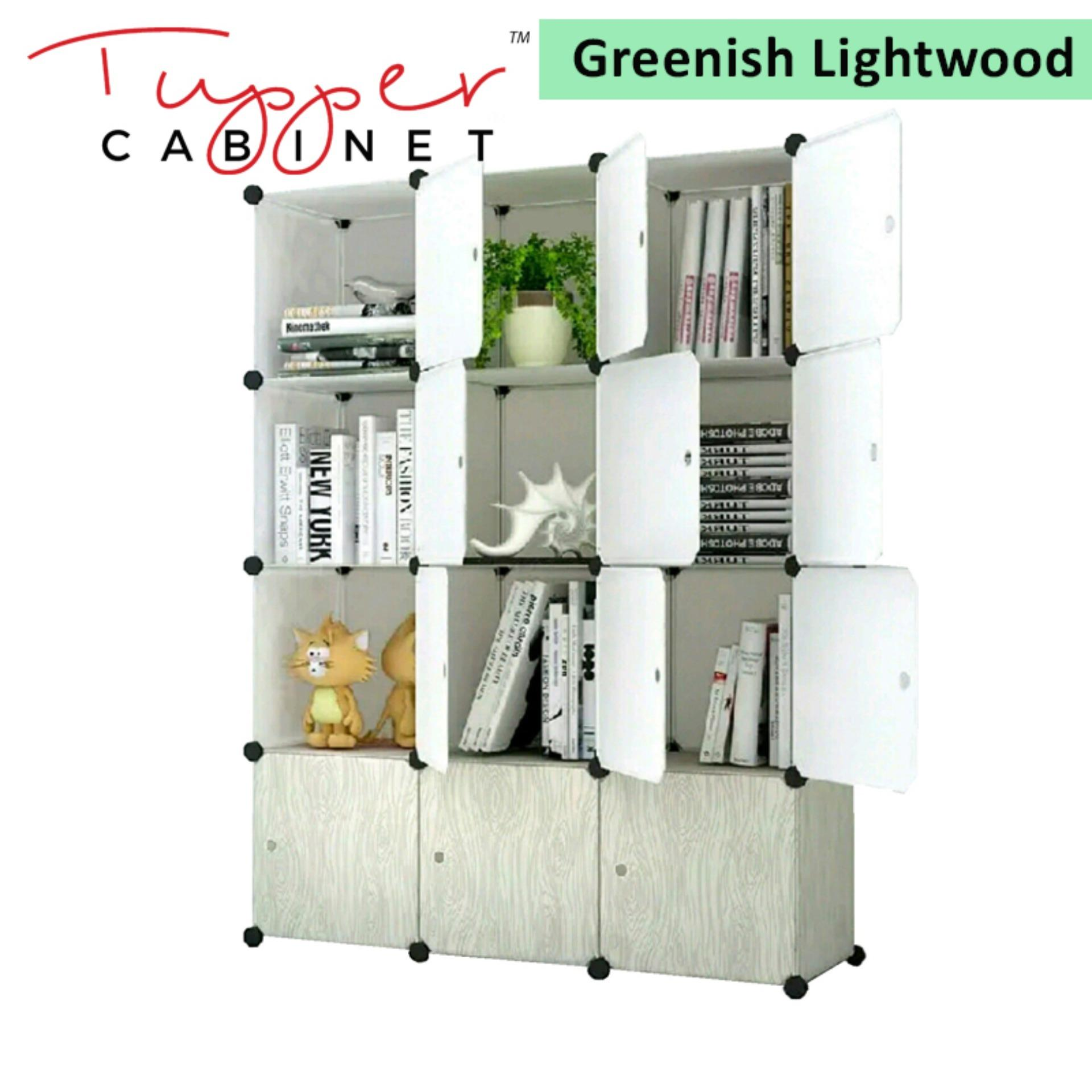 Price Tupper Cabinet Light Wood 12 Cubes Storage Cabinet Beauty Collection Tupper Cabinet New
