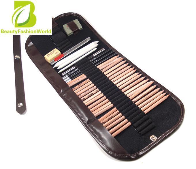 Great Deal Pro 18Pcs Sketch Pencils Charcoal Pencil Extender