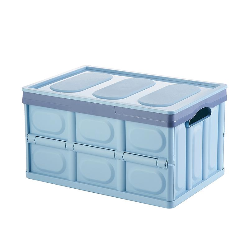 Stackable and Collapsible 56L Storage Box Foldable for Easy Storage Big Capacity 4 Trendy Colors