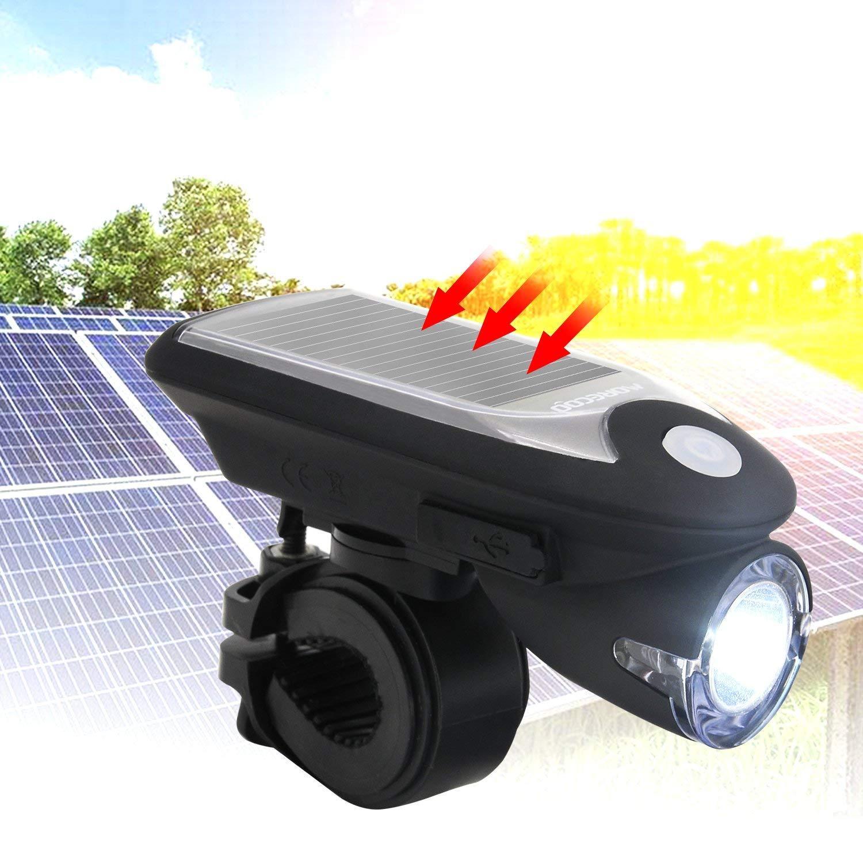 Fitur Iflashdeal Usb Rechargeable Bicycle Headlight Led Solar Bike Powered Garden Decoration Light 100 12 Meter Lampu Hias Taman Detail Gambar Front Back Rear Safety