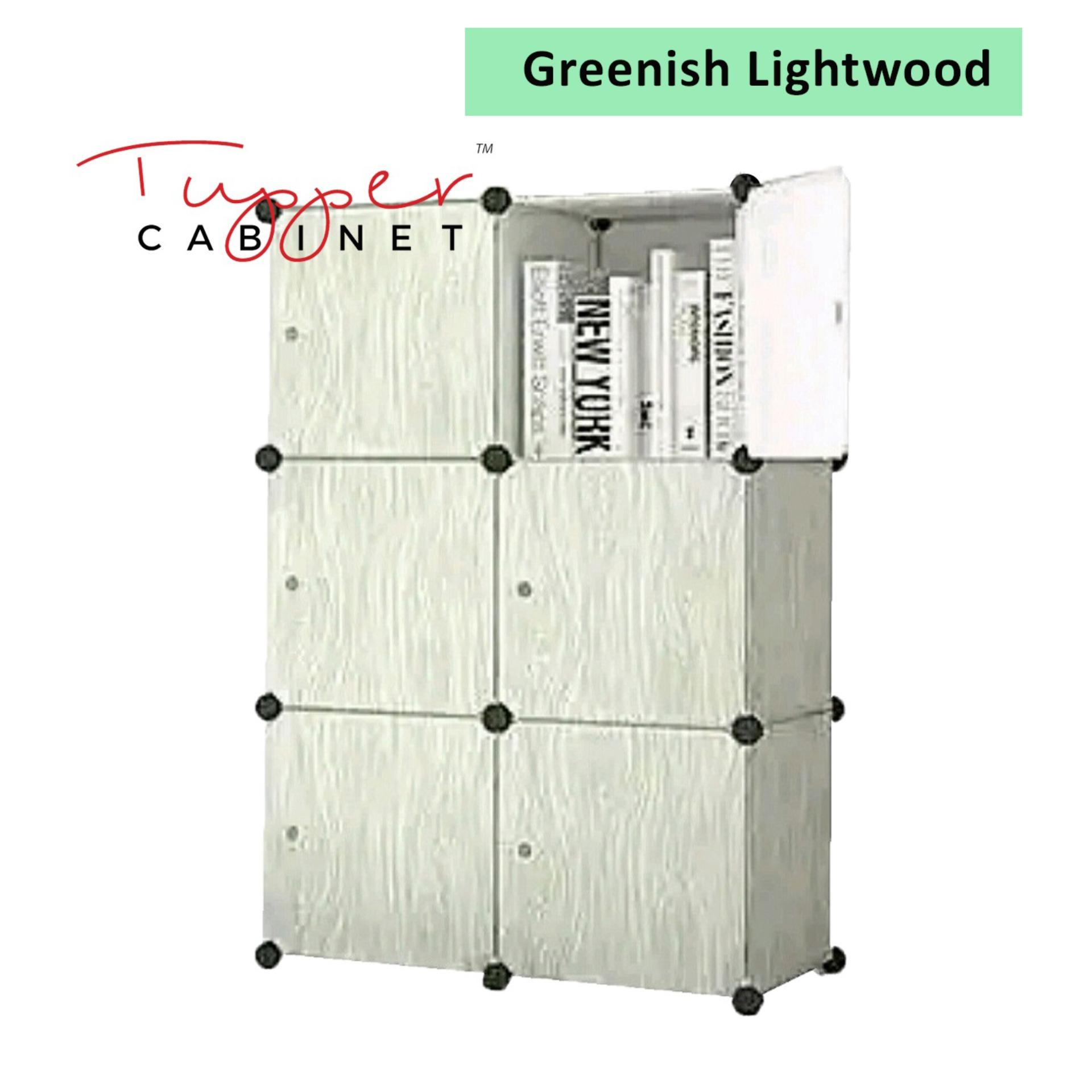 Tupper Cabinet Light Wood 6 Cubes Storage Cabinet Beauty Collection Coupon