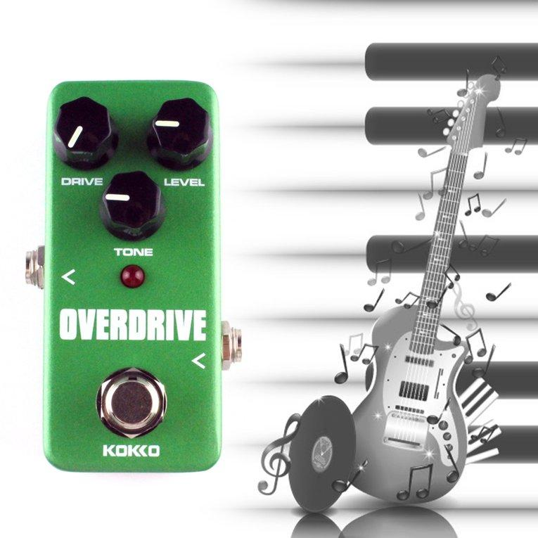 Latest Kokko Fod3 Mini Overdrive Electric Guitar Effect Pedal Tube Overload Stompbox