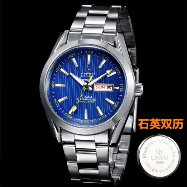 Genuine Product Watch Male Analog Watch Fully Automatic Mechanical MENS Watch Steel Belt Calendar Business MENS Watch Waterproof Night Light Malaysia