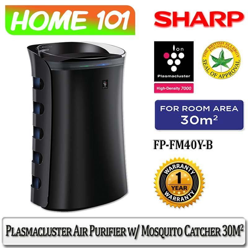 Sharp Plasmacluster Air Purifier With Mosquito Catcher FP-FM40Y-B [30m2] Singapore