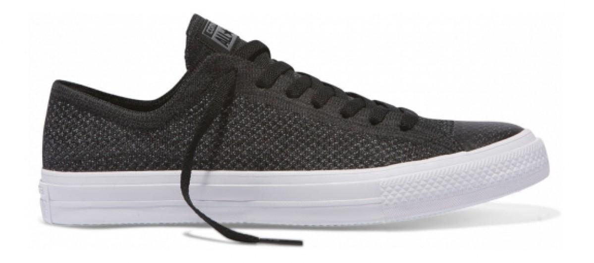 485602fada2 CONVERSE CHUCK TAYLOR ALL STAR X NIKE FLYKNIT LOW TOP BLACK ANTHRACITE WHITE