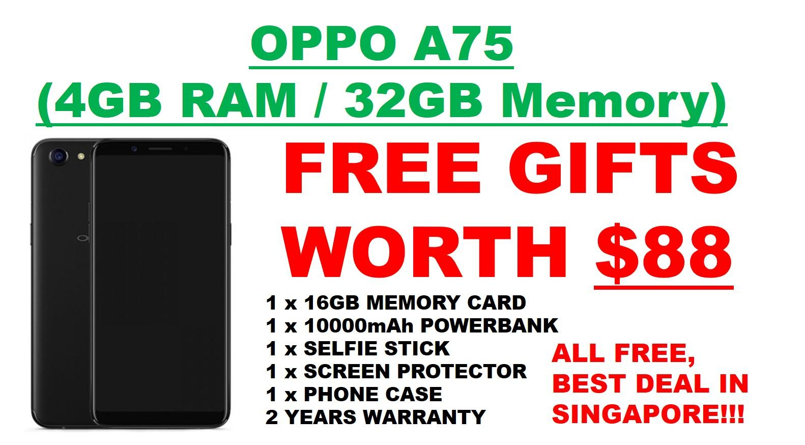 Oppo A75 Free Gifts Worth 88 In Stock