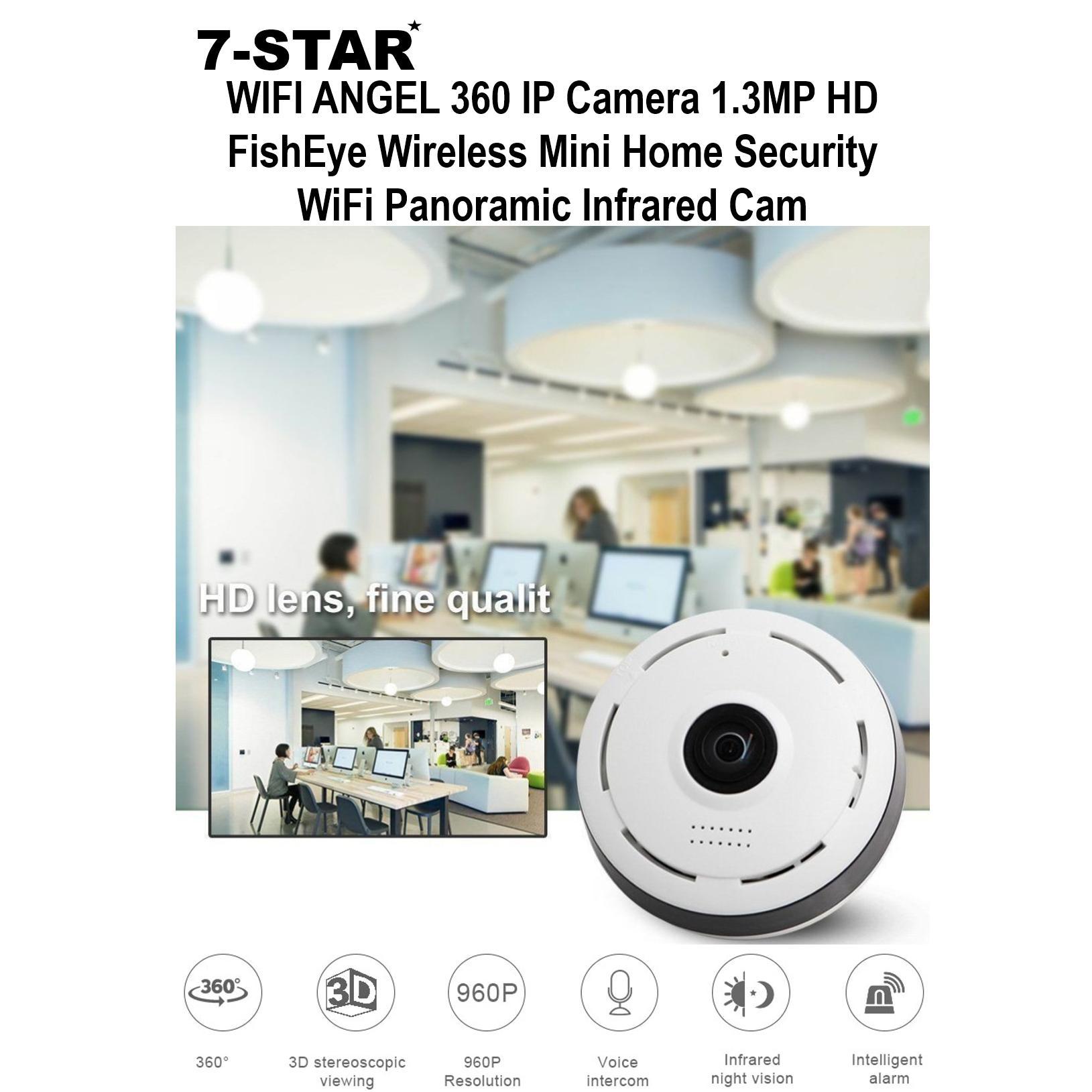 Wifi Angel 360 Ip Camera 13mp Hd Fisheye Wireless Mini Home Xiaomi Xiaofang Smart Cctv 1080p With Night Vision Security Panoramic Infrared