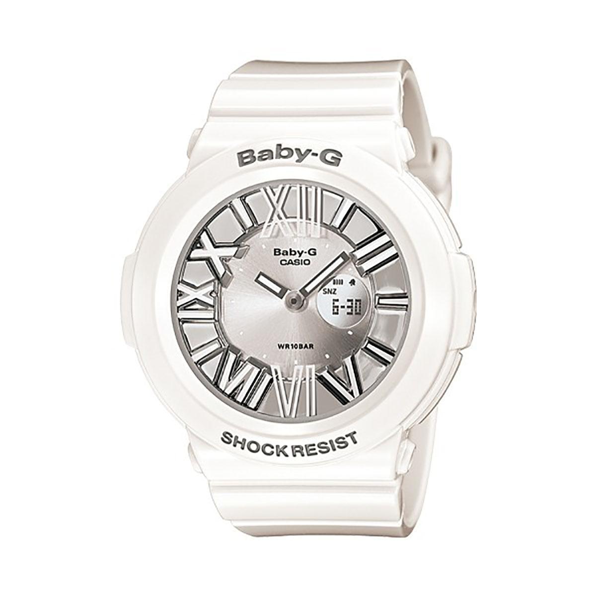 Buy Casio Watch Baby G Neon Illuminator White Resin Case Resin Strap Ladies Bga 160 7B1 On Singapore