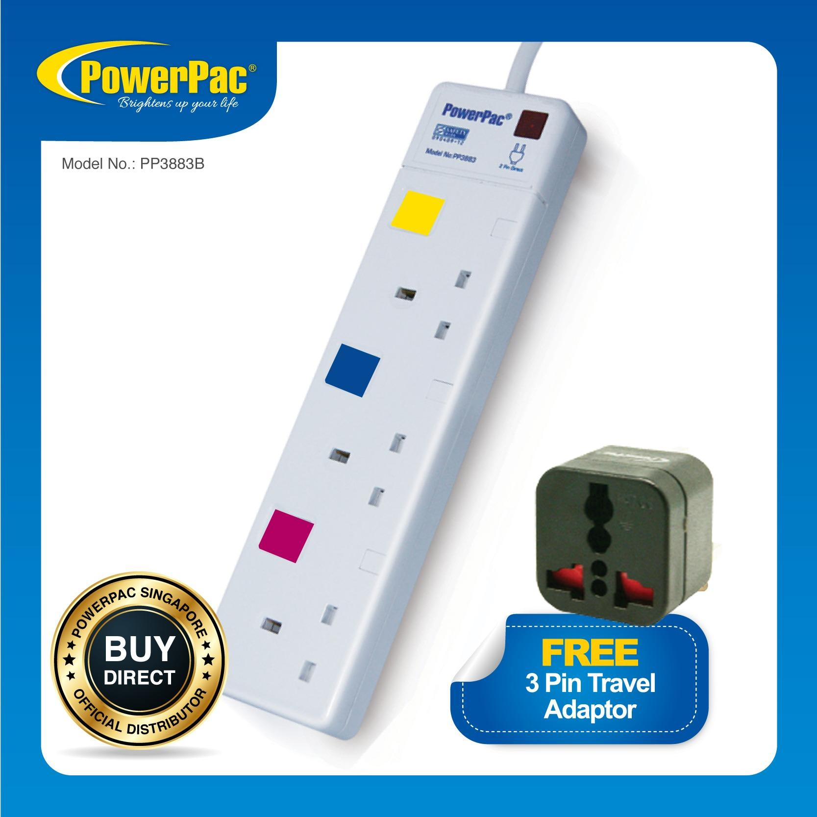 Buy Powerpac 3 Way Extension Socket Cheap On Singapore