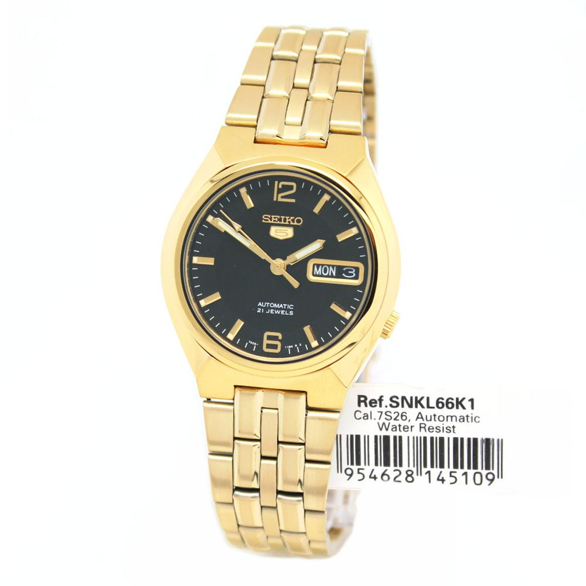 Price Seiko Watch 5 Automatic Gold Stainless Steel Case Stainless Steel Bracelet Mens Snkl66K1 Seiko Online
