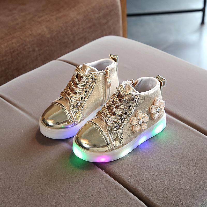 2019 Model Baru Anak-Anak Sepatu Lampu Terang Anak Prempuan Kulit Terang Sepatu Putri Led Bercahaya Sepatu Lampu Berkedip 1-2-5-6 Tahun Sepatu Bayi By Koleksi Taobao.