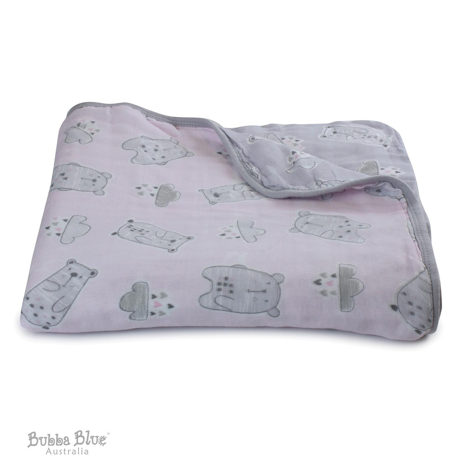 Bubba Blue Beary Sweet Muslin Blanket
