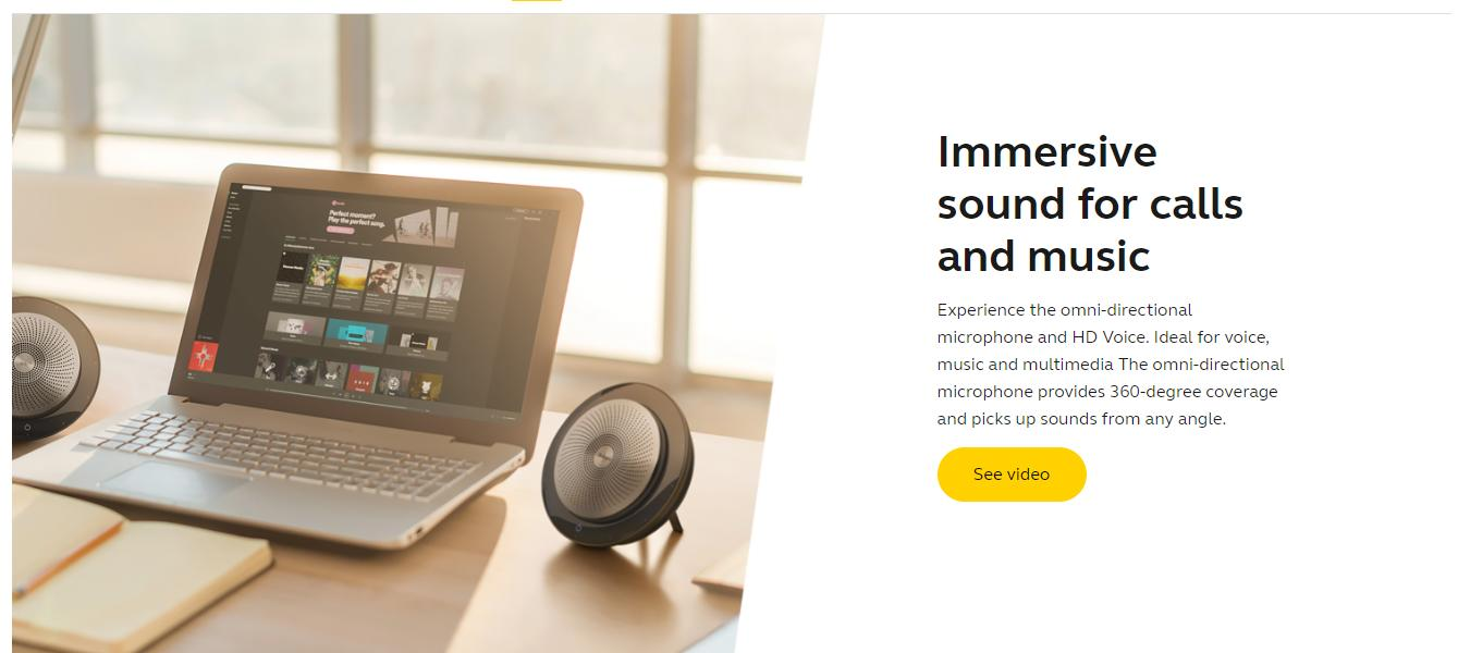 09ca21a8108 Specifications of Jabra Speak 710 MS Wireless Bluetooth with Jabra Link 370  Support Skype for Business Premium Portable Speakerphone for conference  Calls ...