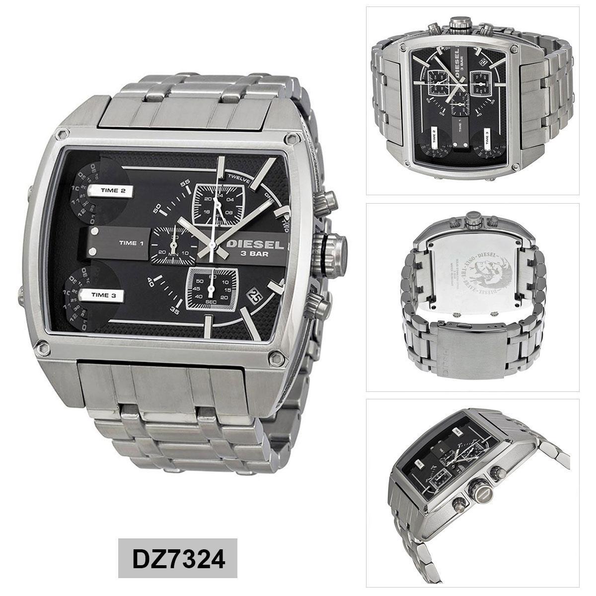 สอนใช้งาน  ชัยภูมิ Authentic Diesel Fleet Silver Stainless-Steel Case Stainless-Steel Bracelet Mens DZ7324 2 Years Warranty
