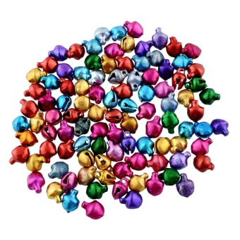 100X Jingle Bells Xmas Charms Jewelry Christmas Ornaments Decor Baubles - intl