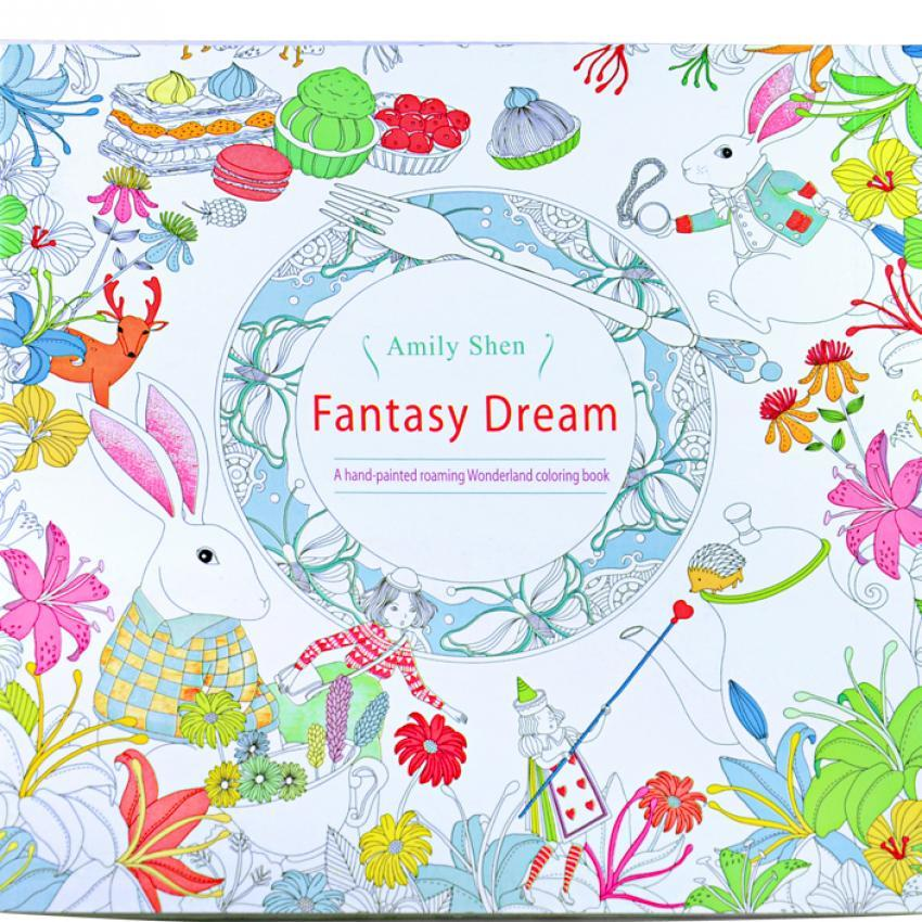 1pcs Fantasy Dream 2016 New Secret Garden An Inky Treasure Hunt And Coloring Book For