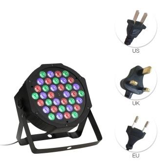 36LEDs RGB Plastic Mini Flat Stage Par Light DMX512 Sound Auto Master-slave 7/4Channels for Bar Club Disco DJ Party - intl - 5