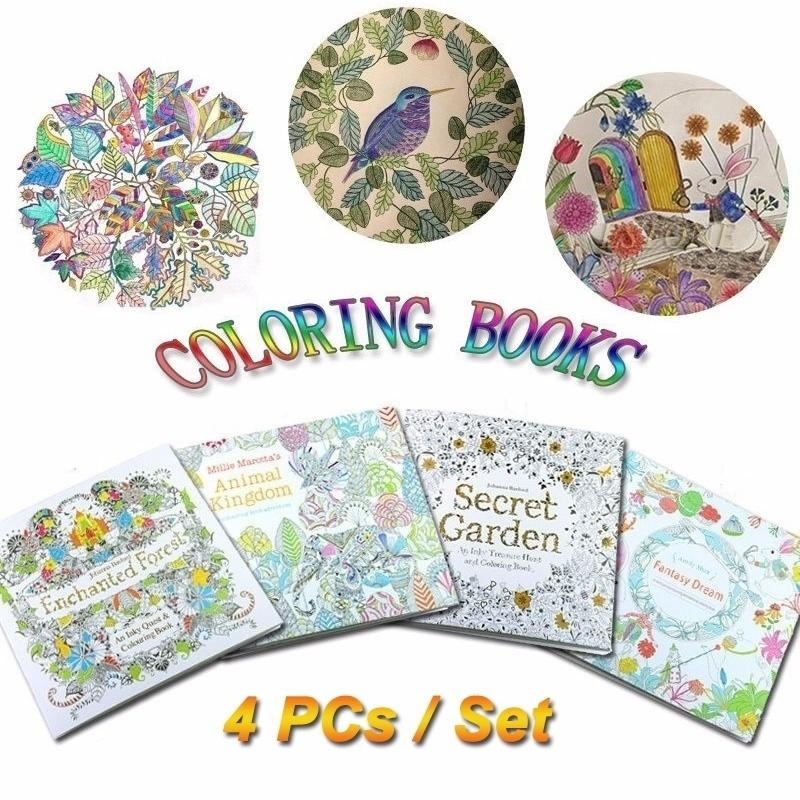 ... Children Adult Coloring Books Painting Books Secret Garden An  InkyTreasure Hunt - intl ...