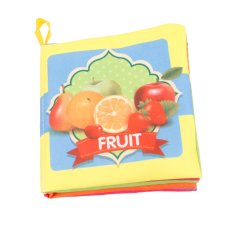 Colorful Baby Kids Cloth Cognize Book- Furit(Export)