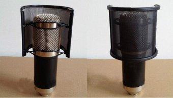 ... Dual Layer Recording Microphone Mic Windscreen Pop Filter Mask Shield Portable - intl ...
