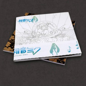 Harga Anime Hatsune Miku Coloring Book Manga Paint Book Anti Stress Art Therapy - intl