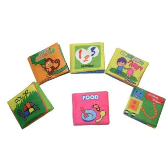Harga EELIC 6PCS BABY Soft Toy Book - Toys Baby Cloth Books / SET (EXPORT)