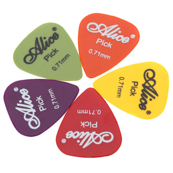 Harga Alice AP-P 20pcs 0.71mm Smooth ABS Guitar Picks Plectrums