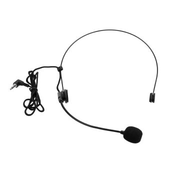 Harga Uni-Directional Head-mounted Headworn Headset Microphone Mic Flexible Wired Boom for Voice Amplifier Amp Loudspeaker