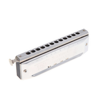 Harga Swan Chromatic Harmonica Mouth Organ 12 Holes with 48 Tone Key of C Reed Wind Instrument with Case Silver