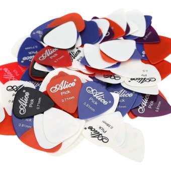 Harga Alice AP-100P 100pcs 0.58mm/0.71mm/0.81mm Guitar Picks Plectrums (EXPORT)