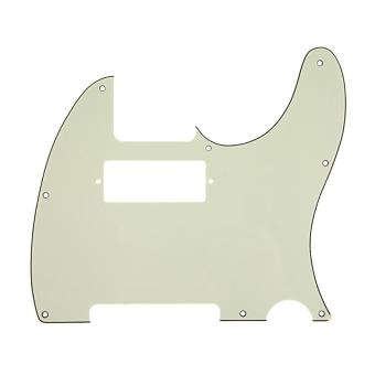 Harga 3Ply Guitar Pickguard For Tele With Humbucker Cut Out Style (Dark Green)