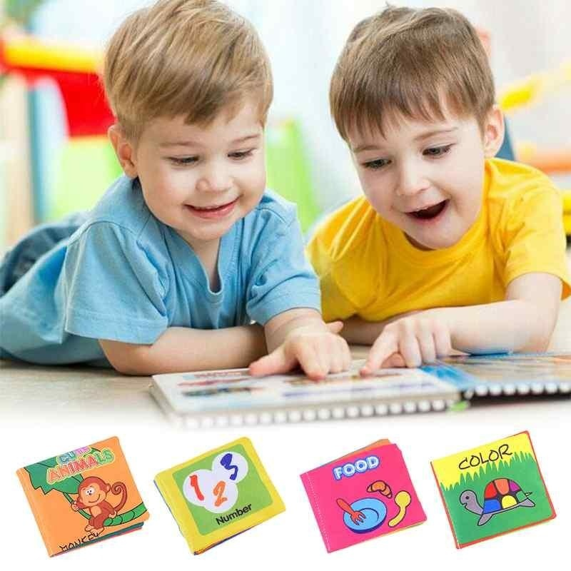 Kid Child Intelligence Development Play Reading Soft Cloth Baby Learning Book - intl