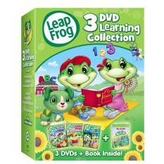 LeapFrog: 3-DVD Learning Collection with Bonus Book