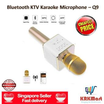 ? Local Seller ? 100 % ? SG WARRANTY ? Q9 Portable Wireless Bluetooth Speaker Microphone Mic with Handheld Karaoke KTV Singing Function