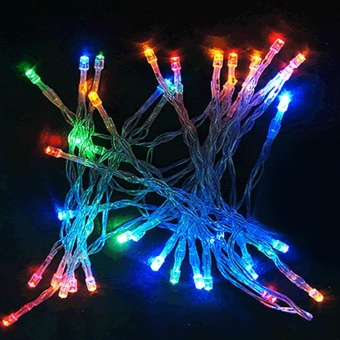Moonar 80 LED Battery Powered Christmas Wedding Party Decor Outdoor Fairy LED String Light Lamp ( Colorful ) - intl