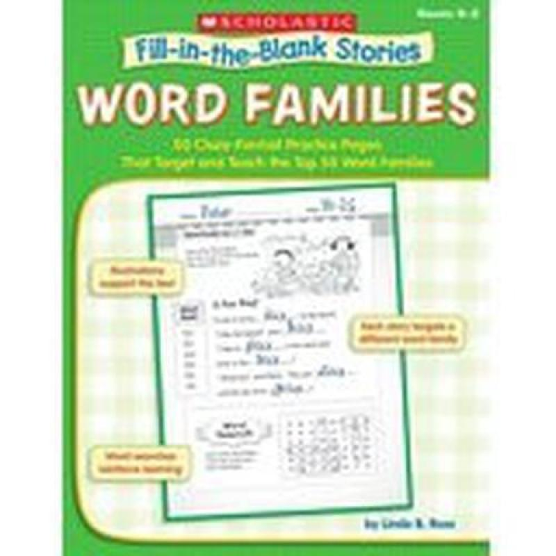 SC945861 FillintheBlank Stories: Word Families Gr K to 2