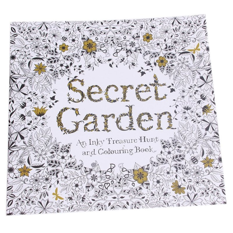 Sworld Secret Garden An Inky Treasure Hunt and Coloring Book 24 Pages Chinese(Export)