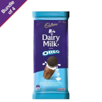 Cadbury Oreo Vanilla 180g - Bundle of 4