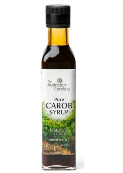 Harga The Australian Carob Co. 100% Australia Carob Organic Pure Carob Syrup Natural Sweetener Healthy Drink and Baking (250ml)