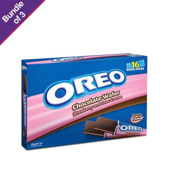 Harga Oreo Strawberry Wafer 232g - Bundle of 3