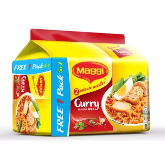Harga MAGGI 2-Min Curry Noodles (5+1 Promo Pack)