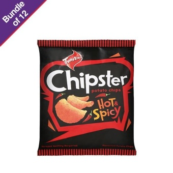 Harga Twisties Chipster Hot & Spicy 60g - Bundle of 12