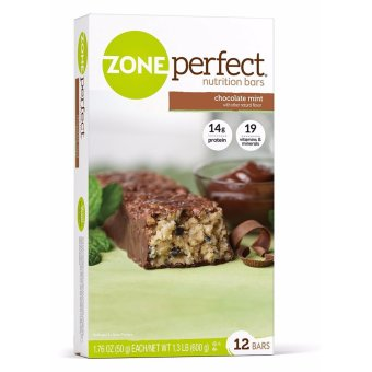 Harga ZonePerfect Nutrition Bars Chocolate Mint 12 Pack